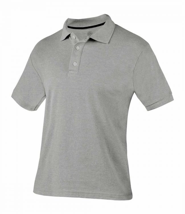 PLAYERA POLO LUTRY COLOR GRIS TALLA EXTRA GRANDE