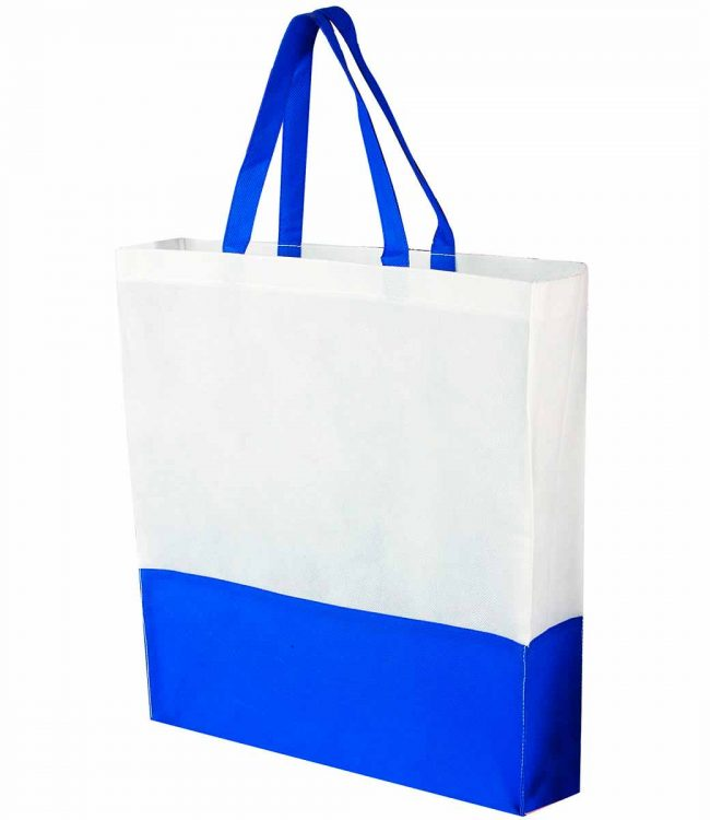 BOLSA SHOPPER COLOR AZUL